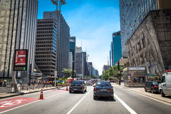 Paulista Avenue in Sao Paulo, Brazil Royalty Free Stock Images