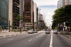 Paulista Avenue in Sao Paulo, Brazil Royalty Free Stock Image