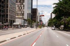 Paulista Avenue in Sao Paulo, Brazil Stock Images