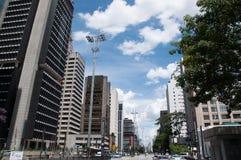 Paulista Avenue in Sao Paulo, Brazil Royalty Free Stock Photography