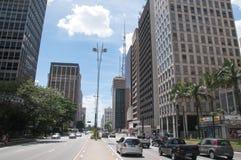 Paulista Avenue in Sao Paulo, Brazil Stock Image