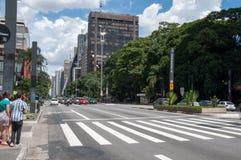 Paulista Avenue in Sao Paulo, Brazil Stock Photography