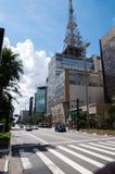 Paulista Avenue in Sao Paulo, Brazil Royalty Free Stock Photo