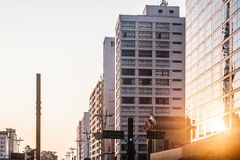 Paulista Avenue in Sao Paulo, Brazil Stock Images