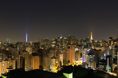 Paulista Avenue skyline Royalty Free Stock Photos