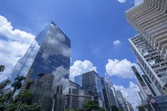 Paulistaweg, Sao Paulo, Brazilië royalty-vrije stock fotografie