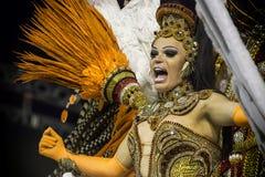 Paulo, Brasil 2015 Império De Casa Verde, Carnaval, São - Zdjęcie Stock