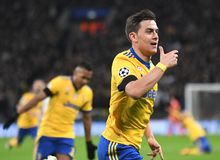 Paulo Dybala goal celebration Stock Photo