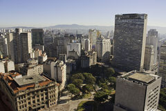 São Paulo - São Paulo - Brasile del centro Fotografia Stock Libera da Diritti