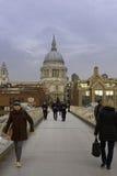 Pauls del ponte e della st di millennio, Londra Immagini Stock Libere da Diritti
