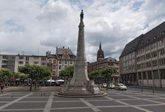Paulsplatz e monumento di unità a Francoforte, Germania fotografie stock