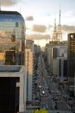 paulsta avenida Стоковое Изображение RF