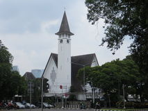Paulus Church in Menteng, Jakarta. Indonesia. Dutch colonial building Royalty Free Stock Photo