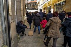 Paume dimanche à Vigo - en Galicie, Espagne photos stock