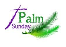 Paume dimanche illustration de vecteur