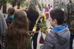 Paume dimanche en Pologne Photos libres de droits
