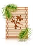 Paume en bambou de tropique de couvre-tapis illustration de vecteur