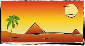 Paume et pyramide Photographie stock libre de droits