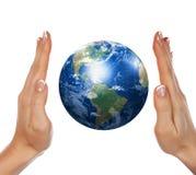 Paume et terre illustration libre de droits