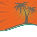 Palmiers de petit morceau de vacances d'été. Photo libre de droits