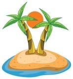 Paumes sur l'île Image libre de droits
