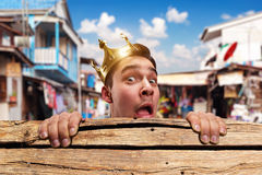 Pauper king Royalty Free Stock Photo