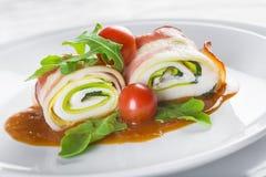 Paupiettes un plato típico de la cocina francesa hecho de la carne rodada Foto de archivo libre de regalías