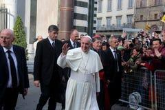 Paus Bergoglio Francesco in Florence Stock Foto