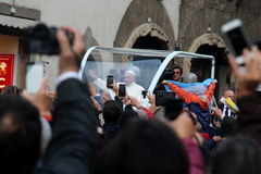 Paus Bergoglio Francesco in Florence Stock Afbeelding