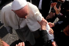 Paus Bergoglio Francesco in Florence Royalty-vrije Stock Fotografie