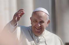 Paus Francis Portrait in de Stad van Vatikaan Stock Afbeeldingen