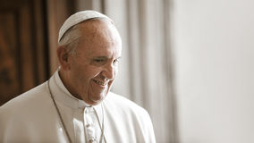 Paus Francis, Vatikaan royalty-vrije stock foto