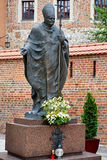 Paus Johan Paul ii slupture in Krakau royalty-vrije stock fotografie