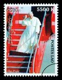 Paus John Paul Postage Stamp Stock Afbeelding
