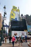 Paus New York op muur Royalty-vrije Stock Afbeelding