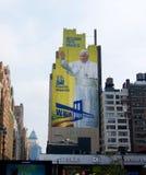 Paus New York op muur Stock Foto