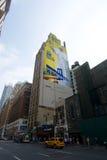 Paus New York op muur Stock Foto's