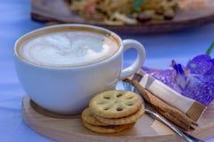 Pausa caffè calda di mattina Immagine Stock