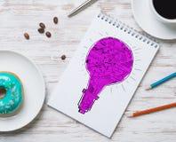 Pausa caffè con lo spuntino Immagini Stock Libere da Diritti