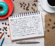 Pausa caffè con lo spuntino Fotografie Stock