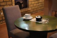 Pausa caffè del ristorante Immagine Stock