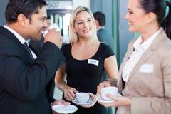 Pausa caffè delle persone di affari Fotografia Stock