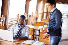 Pausa caffè dello studente Fotografia Stock