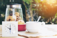 Pausa caffè di mattina Immagine Stock Libera da Diritti