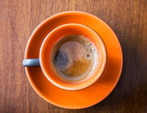 Pausa Caffè. A frothy cup of coffee ready to taste Stock Photo