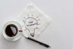 Pausa caffè per le idee di affari Immagini Stock Libere da Diritti