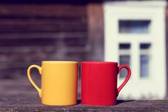 Pausa do café no ar fresco Imagem de Stock Royalty Free