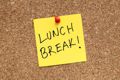Pausa para o almoço foto de stock