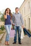 Pausa que hace compras Imagen de archivo libre de regalías
