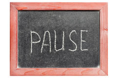 Pause images stock